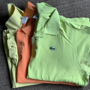 3 Lacoste polos size 6 or XL